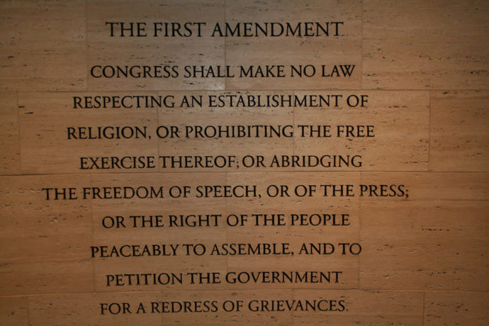 Why racists and bigots hate The First Amendment.