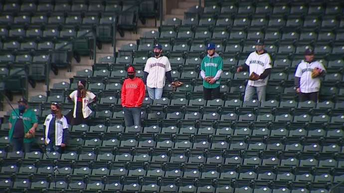 This photo is to prove that even during the COVID-19 Pandemic, some Seattle Mariners fans still have faith in their team.