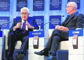 Klaus Schwab and Henry Kissinger