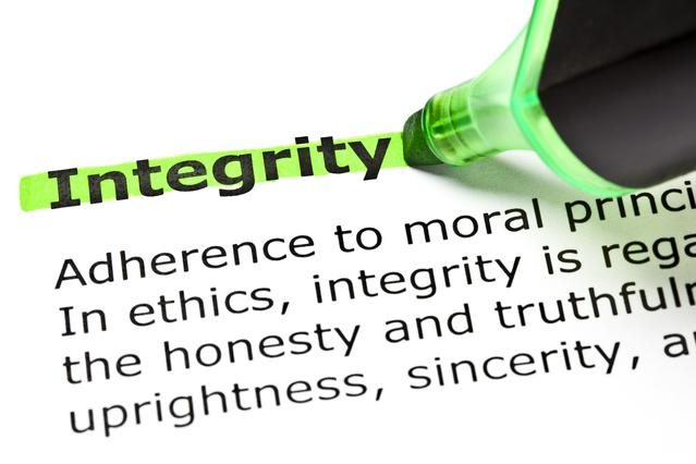 Integrity is something to be highly cherished