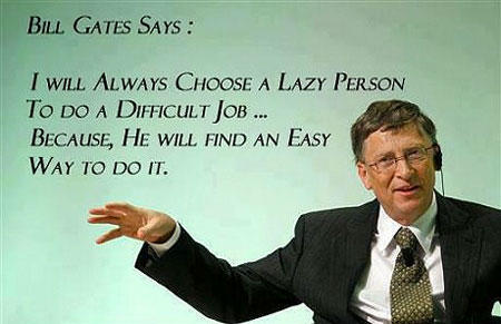 Lazy or Pure Genius? You Decide