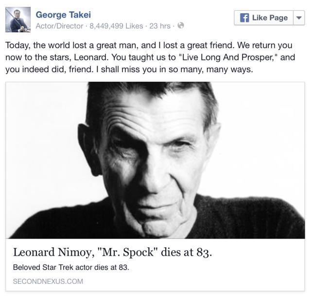 Remembering The Legend — Leonard Nimoy