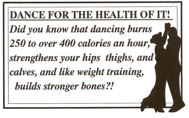 The benefits of dancing.