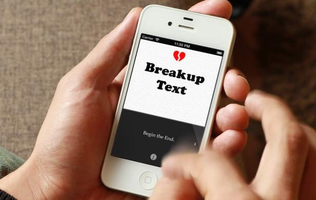Break up text isn't fun!