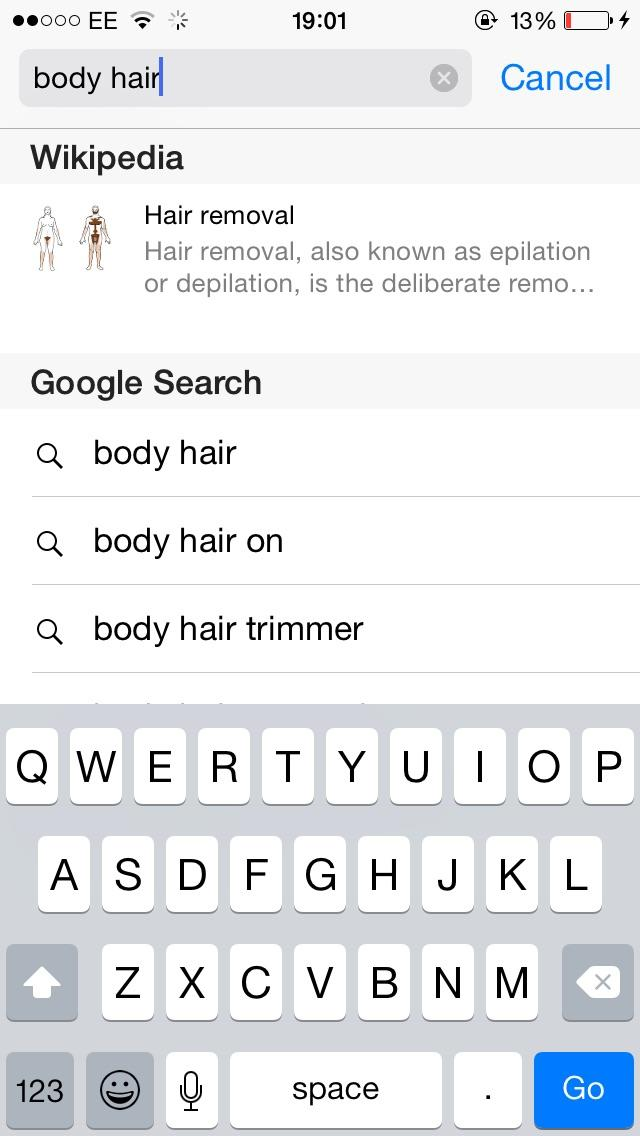 Body hair on a female