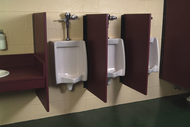 would you use the urinal between two occupied urinals if they 39 re separated like this girlsaskguys