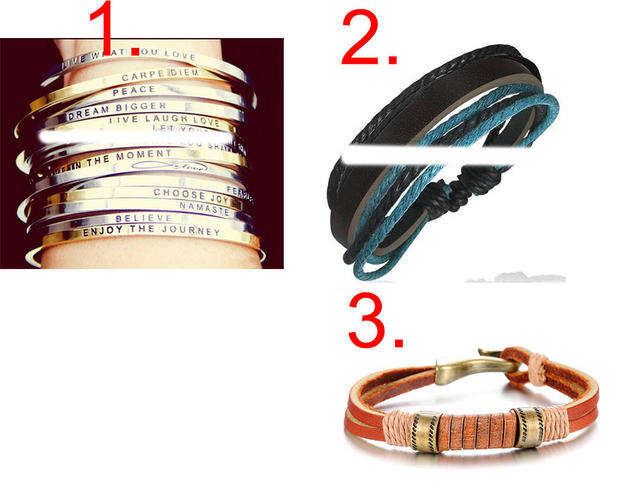Girls, HELP... Which wristband would you wear?