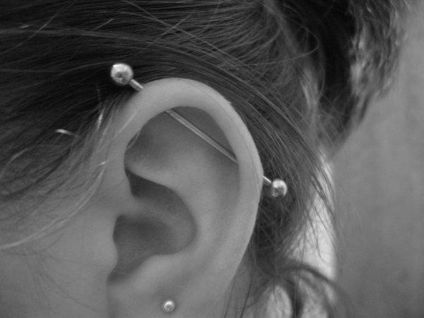 Industrial piercings, Hot or not??