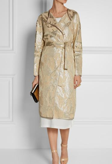 Thoughts on this coat, and do you think it would look nice over a silk dress similar colour?