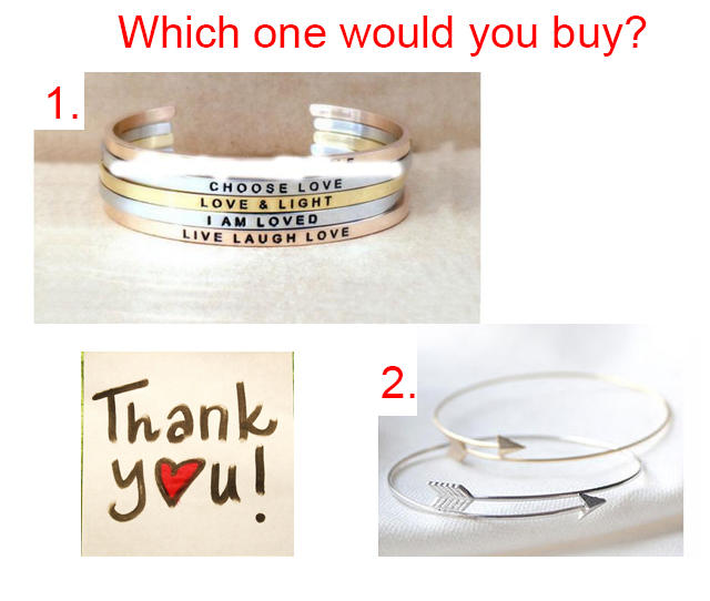 Girls, What kind of bracelet would you buy - help Fast?