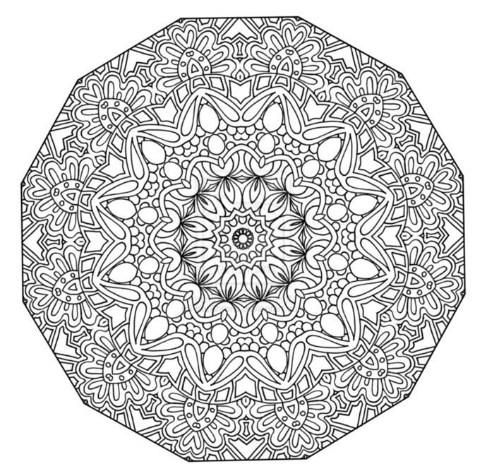Have you ever drawn a mandala?
