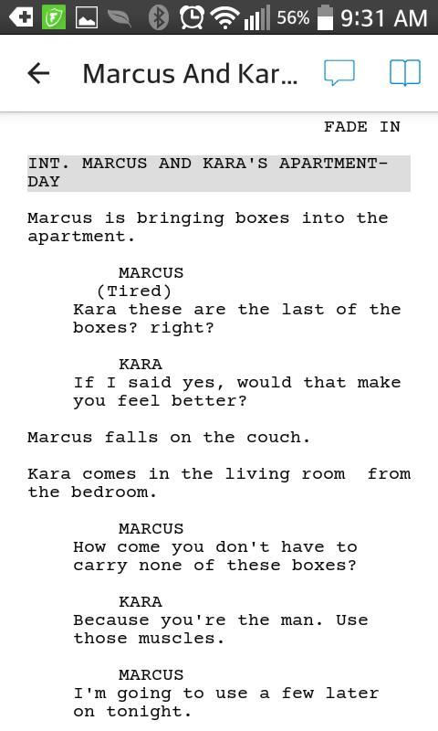 Writing a show pilot-Marcus and Kara?