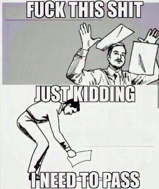 Anyone have exams coming up?