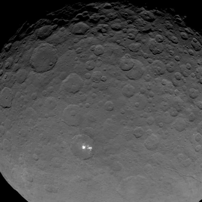This is the brightest spot on the minor planet Ceres. What do you think it is🌓👽?