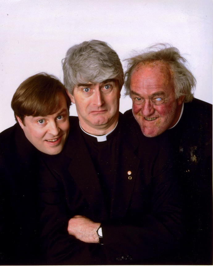 You may or not have seen this but have you ever watched the show Father Ted?