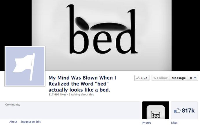 Does word ''bed'' look like a bed to you?