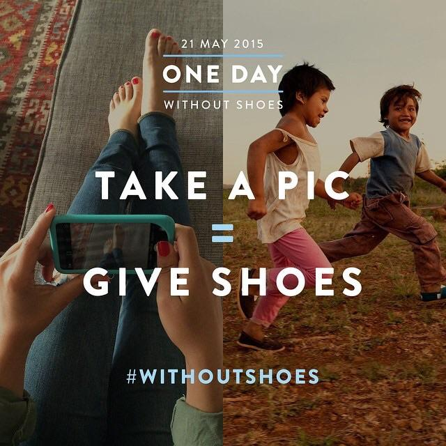 Did you participate on the One Day Without Shoes event by TOMS?