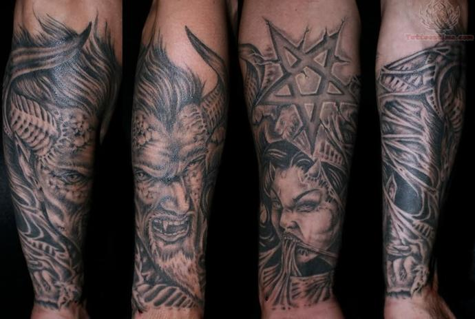 Girls, Would you date a guy with a demon tattoo on his arm?