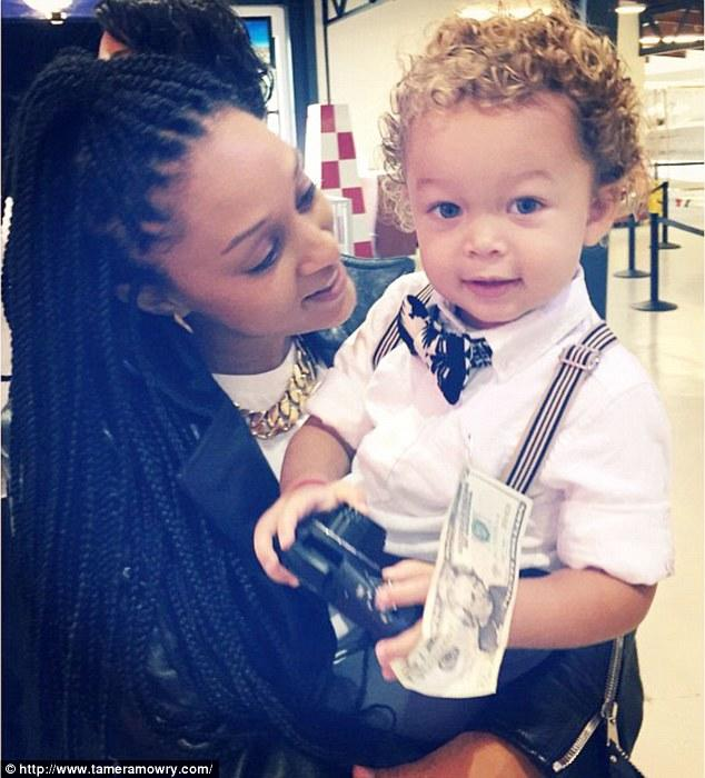 How is Tamera Mowry's baby white?