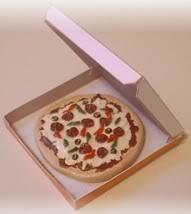Why do you get a round pizza in a square box??