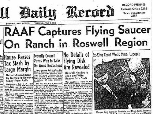What do you think really crashed at Roswell New Mexico?