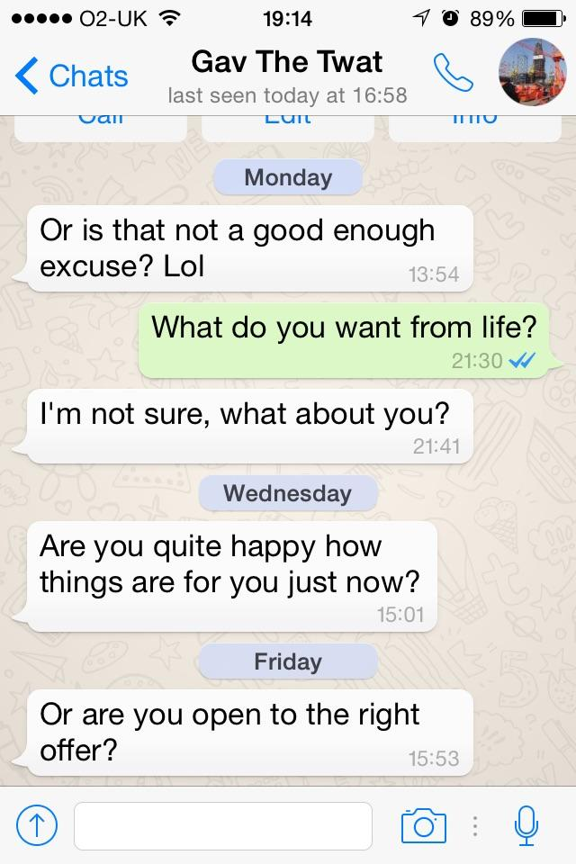 This is a convo from my ex, who I am not interested in anymore. Anyone got a good reply to this?