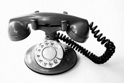 How many of you have a land line or are we all teched out?