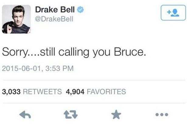 Do you think Drake Bell was wrong for saying that he'd still call Caitlyn Jenner
