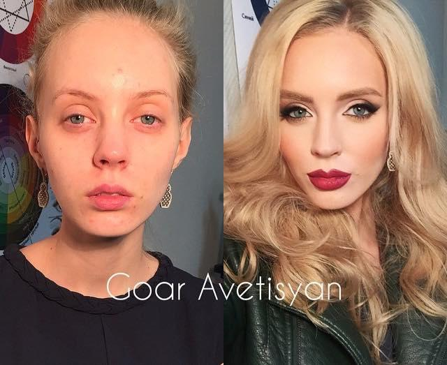 What do you think about these before and after makeup pics?