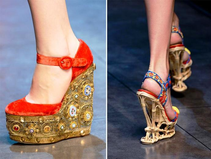 Why do most girls feel like wedges are easier to walk in then heels?