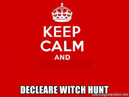 If witches were real would you join a witch hunt?