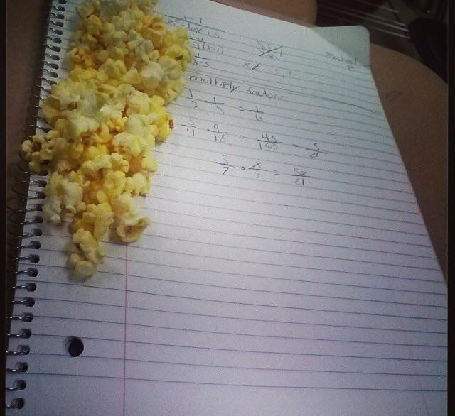 I sticked popcorn on my brothers homework because I was bored but now i regret it?
