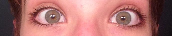 Girls, does it look like I wear mascara?
