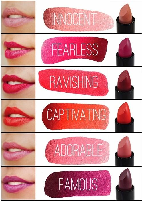 what color of lipsticks is the one that you like the most???tell me ?