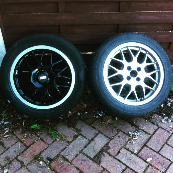 What do you think of my alloy refurbs in black and silver?