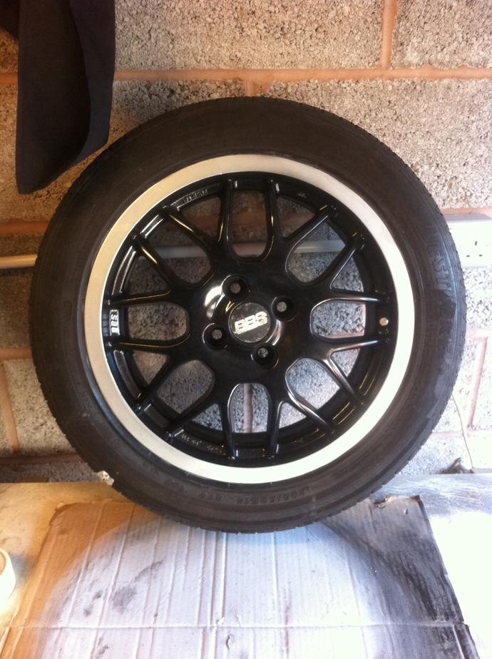 That's a close up of my wheel refurb, what you think?