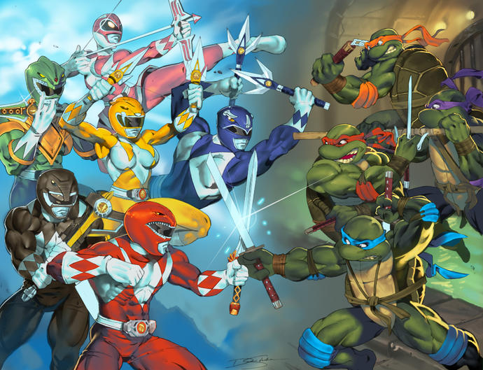 The Teenage Mutant Ninja Turtles, or Power Rangers which do you like more?