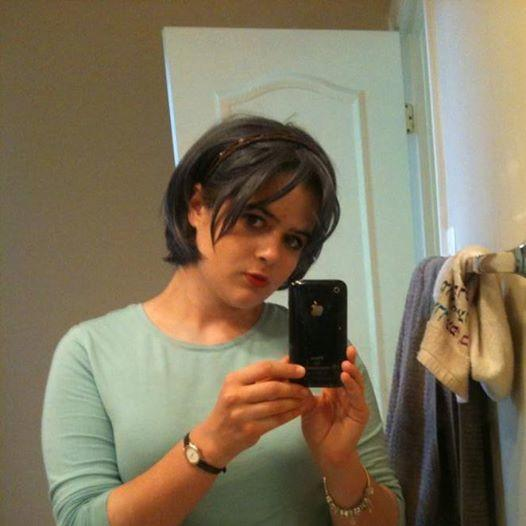 How do I look in this cosplay wig photo? Honesty please?