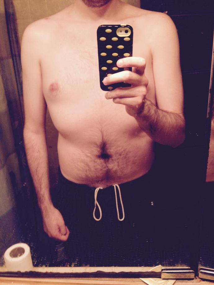 Girls, please rate my body. I feel like I am a little out of shape but don't want to ask people I know? Do you think I'm out of shape?