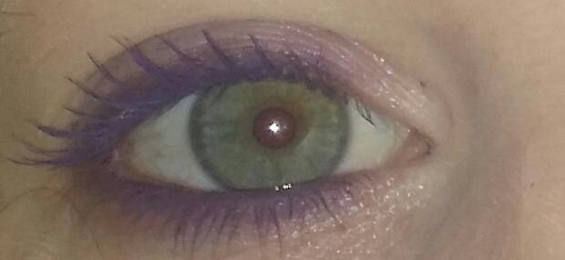 Is this too much purple eye makeup?