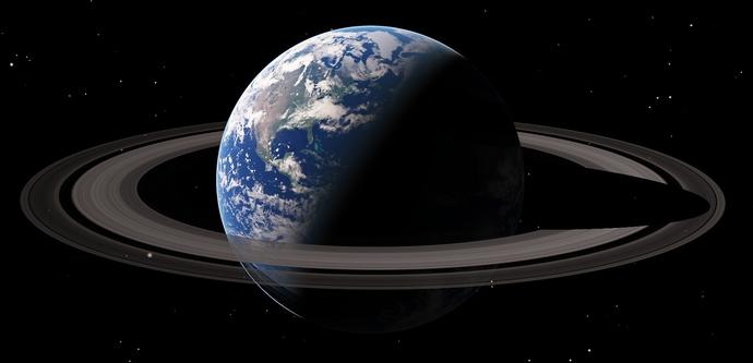 How come Earth doesn't have a ring orbiting around it like Jupiter or Saturn?