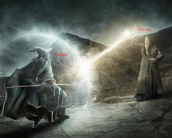 Gandalf (the white) vs Dumbledore?