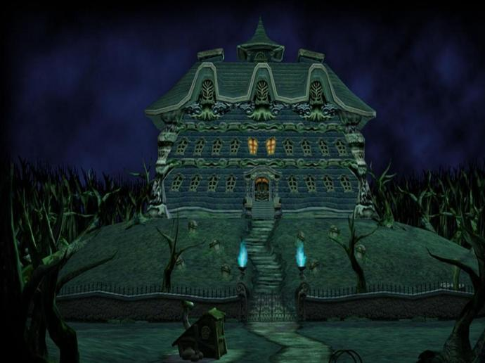 Which one of the following two video game mansions would you get terrified of more?