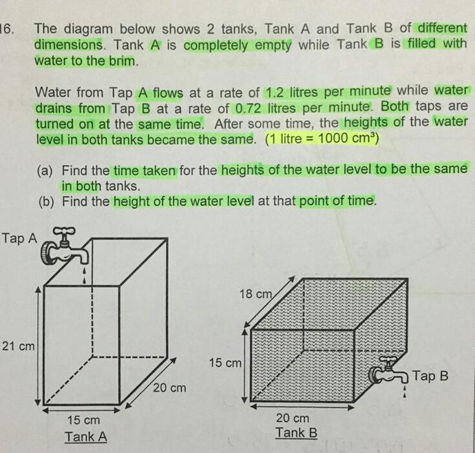 Does anyone know how to solve the following Maths question on Volume(MHO would be selected)?