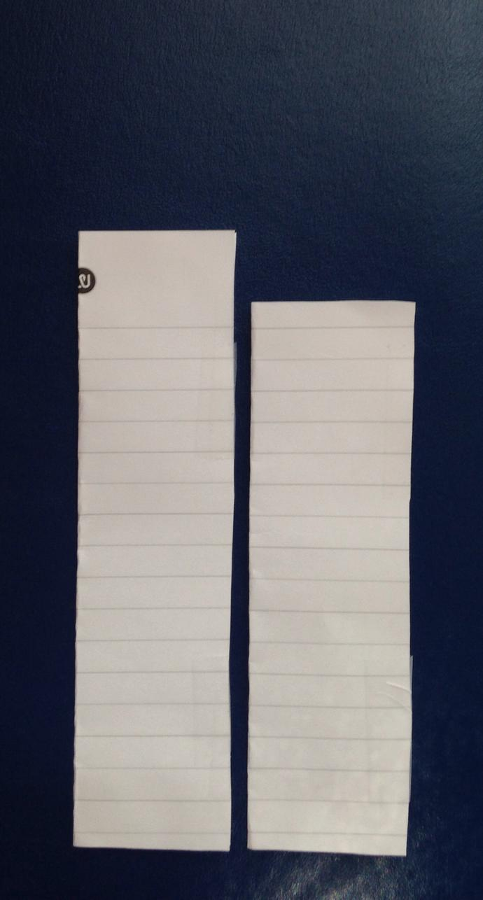 Girls, the paper on the left is the average size penis, and the paper on the right is my size, what do you think?