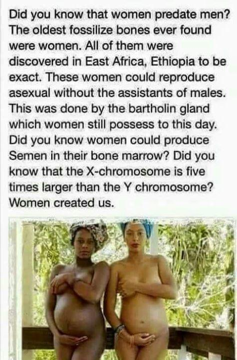 Do you believe the male sex has secretly been useless to humanity after all of these milleniums of existence after reading this picture shared here?