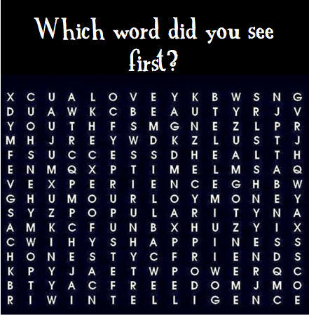 Which word did you see first?