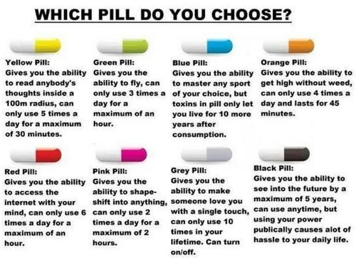 Which pill do you choose?