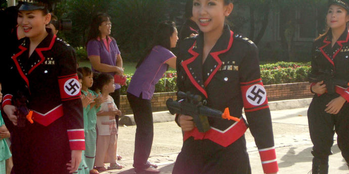 Your opinion of the Nazi chic fashion trend in Asia?