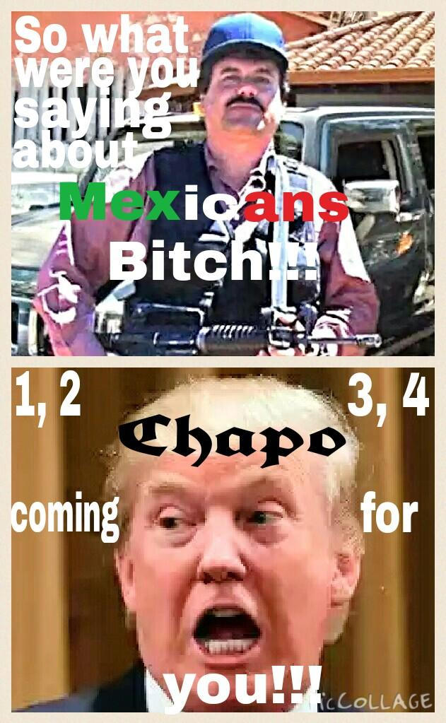 Donald Trump i suggest you shut your mouth about Mexicans and other immigrants or else Lmfao ?